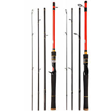 Light Bass Rod Us 18 08 37 Off 2 1m 4 Section Portable Travel Carbon Fiber Fishing Rod Ultra Light Lure Rod Bass Fishing Pole In Fishing Rods From Sports