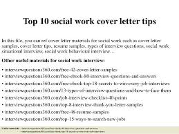 Social Work Cover Letter Example Social Work Cover Letter Examples