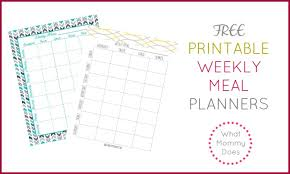 weekly menue planner free printable weekly meal planning templates and a week s worth