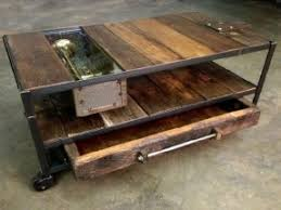 Prepossessing Iron And Wood Coffee Tables With Additional Home Decoration  Ideas ...
