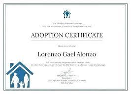 Sample Certificate Templates Doc Free Premium Adoption