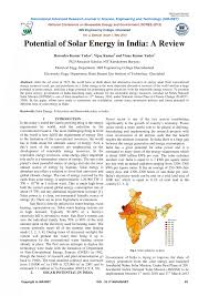 potential of solar energy in a review pdf available