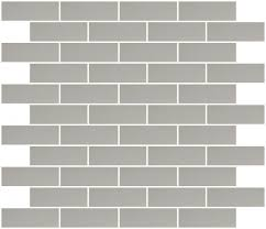 1x3 Inch Silver Mirror Glass Subway Tile Reset In Running-brick Layout