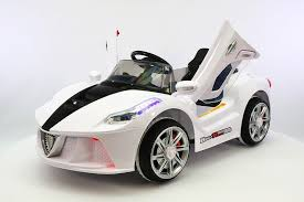 The remote control also contains a stop feature that can bring the car to a complete halt that offers full control. White Ferrari Spider Kids Ride On Car Battery Powered Wheels Parental Remote Control Mp3 Usb Player Ferrari Toddlers Baby Car Kids Ride On White Ferrari