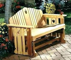 wooden rocking bench glider swing porch full size of plans for garden uk