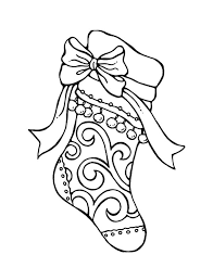 Small Picture Christmas Stockings Coloring Pages Best Dresses Collection Design