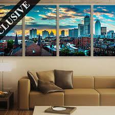 large wall decor canvas set of 1 or 4 panel art extra large w on extra large multi panel wall art with best skyline wall art products on wanelo