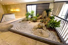 the zen space can be moved entirely inside the home even like in this case on the second floor of the house the obstacles in front introducing such a space
