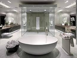 Charmingbathroomconceptstylefreestandingbathtubluxuryinterior Best Large Bathroom Designs