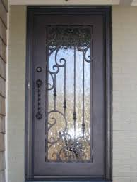 wrought iron front doorsSingle square top wrought iron front door  Calhoun  Pinterest