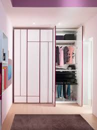 bedroom, Charming Bedroom Design In Purple Led Lights With Exquisite Closet  Furniture And Cabinets Storage