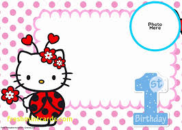 invitation card hello kitty hello kitty birthday invites card design ideas