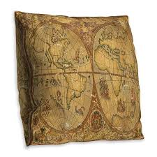 Nautical Chart Pillows Double Sided Vintage Nautical Chart Cushion Cover Home Sofa Office Soft Throw Pillowcases Art Decor