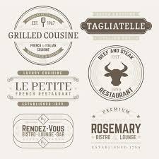 Templates For Logo Restaurant Retro Logo Templates Pack Vector Free Download