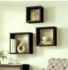 square wall shelves box wall shelving small square dark brown stayed drawer thin wooden material varnished frame modern design square wall shelf white
