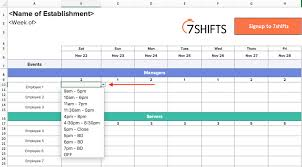 016 Rotating Shift Schedule Template Ideas Work Creation