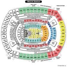 Metlife Stadium Seating Chart Metlife Stadium Concert Seating Chart Metlife Arena Seating