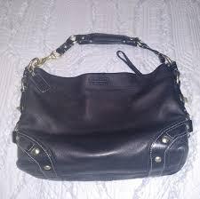 Black Coach medium sized smooth leather purse