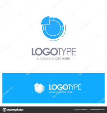 Graph Circle Pie Chart Blue Solid Logo With Place For