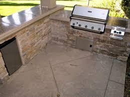 Stamped Concrete Kitchen Floor Selecting Outdoor Kitchen Flooring Diy