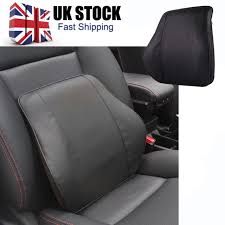 leather memory foam seat cushionback support pillow for office home chair car uk