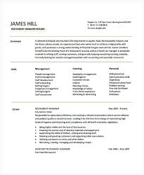 fast food restaurant manager resume restaurant manager resume sample 1 hotel and restaurant management