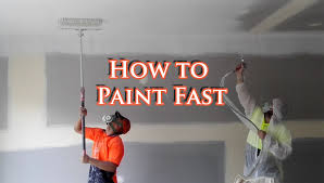 save time painting a house with an airless spray