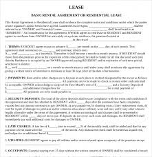Sample Leasing Agreement. Sample Lease Agreement Template Word Lease ...