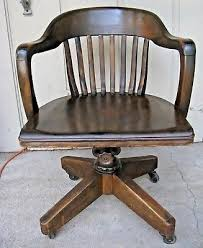 Vintage wooden office chair Vintage Style Vintage Dark Wood Swivel Desk Office Chair Coastersbanker Lawyer Courthouse Ebay Vintage Wood Banker Chair Antique Office Industrial Wooden Arm