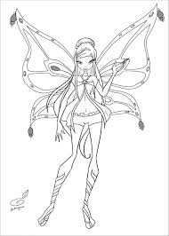 Kleurplaten Van Winx Club Enchantix Lovely Winx Club Ausmalbilder