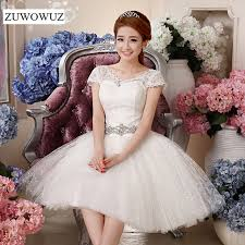 2017 new plus size short wedding dress bridal ball gown simple