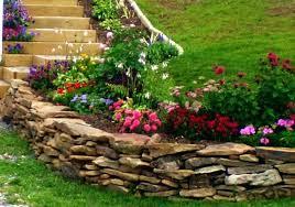 types of landscaping rocks walls garden