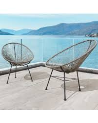 modern wicker patio furniture.  Patio Sarcelles Modern Wicker Patio Chairs By Corvus Set Of 2 Grey  Accent Throughout Furniture R