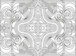 Small Picture Geometric Shapes Coloring Pages FunyColoring
