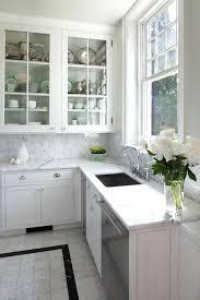 carrara marble tile backsplash