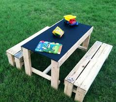 Cozy Kids Pallet Furniture In Backyard