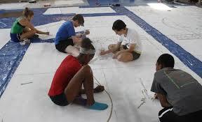 art works cincinnati students of artworks cincinnati summer project working on mt adams
