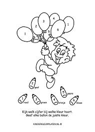 Kleurplaat Ballonnen Inkleuren Spelletjes