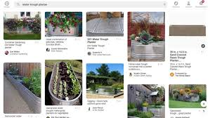 water trough planters on