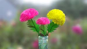 Dahlia Flower Making With Paper How To Make Dahlia Paper Flower Easily At Home 2019 Linas