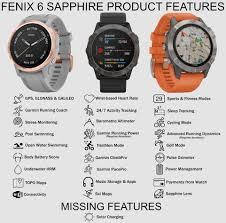 Garmin Watch Compare Chart Garmin Fenix 6 Comparison Chart 5krunning Com