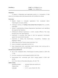 Software Tester Sample Resume 01 Testing Fresher Resume Sample
