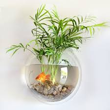 home decoration wall mount fish tanks