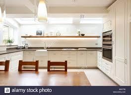 Kitchen Feature Wall Kitchen Side Extension London Terrace Oak Table Skylights Velux