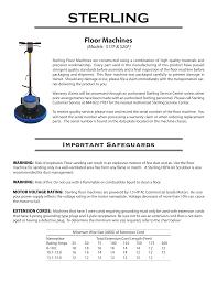Floor Machines Manualzz Com