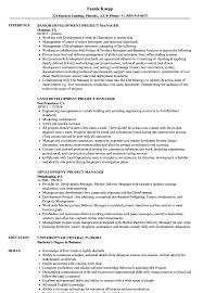 Development Project Manager Resume Samples Velvet Jobs