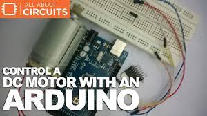 control a dc motor an arduino