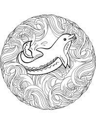 Disegno Di Mandala Delfino Da Colorare Disegni Da Colorare E