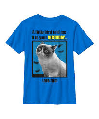 grumpy cat birthday bird. Simple Cat Grumpy Cat U0027Little Birdu0027 Birthday Tee And Bird B