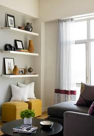 living room floating shelves